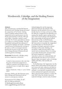 Wordsworth, Coleridge, and the Healing Powers of the Imagination