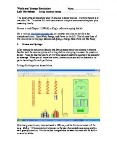 Work and Energy Simulation
