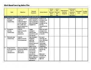 Work-Based Learning Action Plan