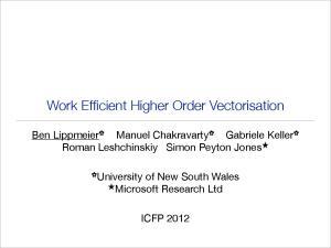Work Efficient Higher Order Vectorisation