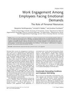Work Engagement Among Employees Facing Emotional Demands