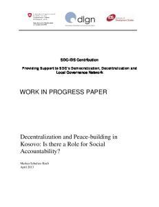 WORK IN PROGRESS PAPER