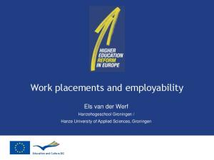 Work placements and employability