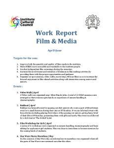 Work Report Film & Media