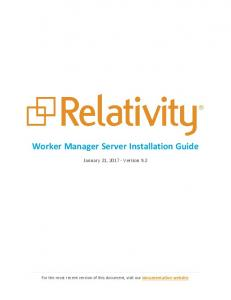 Worker Manager Server Installation Guide