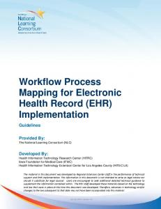 Workflow Process Mapping for Electronic Health Record (EHR) Implementation