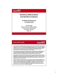 Workforce Differentiation and Workforce Analytics