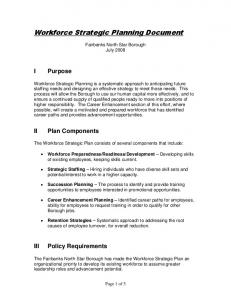 Workforce Strategic Planning Document