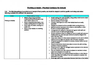 Working at height - Practical Guidance for Schools