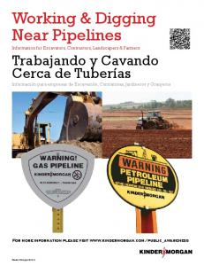 Working & Digging Near Pipelines