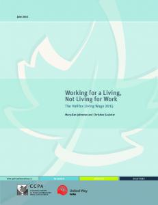 Working for a Living, Not Living for Work