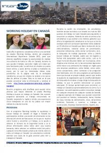 WORKING HOLIDAY EN CANADÁ