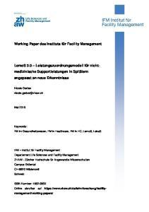 Working Paper des Instituts für Facility Management