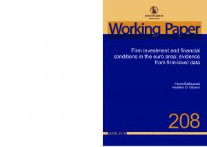 Working Paper. Firm investment and financial conditions in the euro area: evidence from firm-level data