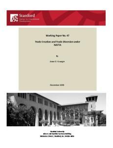 Working Paper No. 47. Trade Creation and Trade Diversion under NAFTA