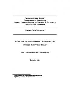 Working Paper Series Department of Economics Alfred Lerner College of Business & Economics University of Delaware