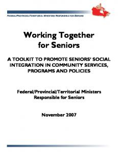 Working Together for Seniors