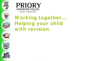 Working together Helping your child with revision