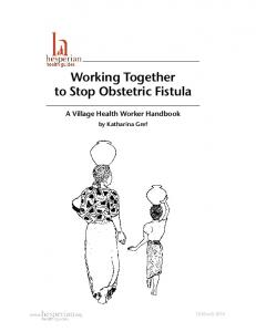 Working Together to Stop Obstetric Fistula