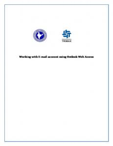 Working with  account using Outlook Web Access