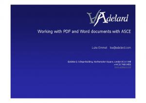 Working with PDF and Word documents with ASCE