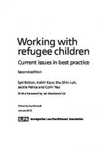 Working with refugee children