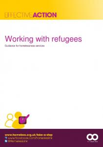 Working with refugees Guidance for homelessness services