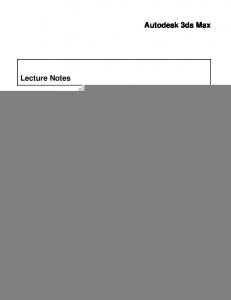 Working with Revit Architecture Designs in Autodesk 3ds Max
