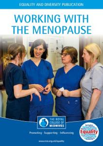 WORKING WITH THE MENOPAUSE