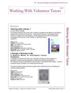 Working With Volunteer Tutors
