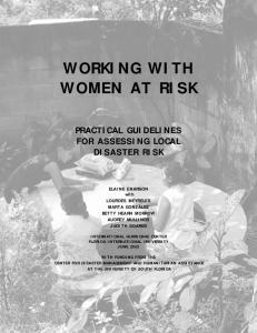 WORKING WITH WOMEN AT RISK