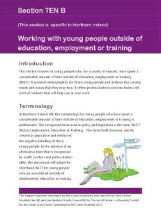Working with young people outside of education, employment or training