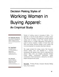 Working Women in Buying Apparel: