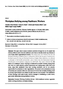 Workplace Bullying among Healthcare Workers