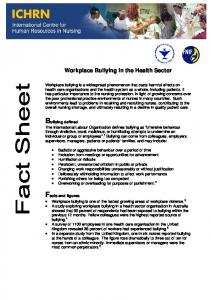 Workplace Bullying in the Health Sector