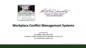 Workplace Conflict Management Systems