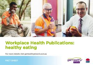 Workplace Health Publications: healthy eating