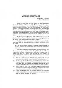 WORKS CONTRACT. Ajai Tandon, Advocate Mob