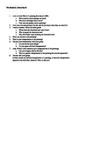 Worksheet: Rorschach