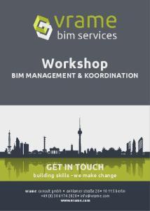Workshop BIM MANAGEMENT & KOORDINATION