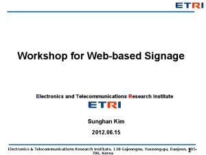 Workshop for Web-based Signage