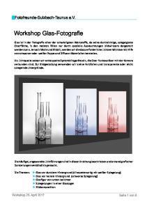 Workshop Glas-Fotografie