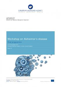 Workshop on Alzheimer s disease