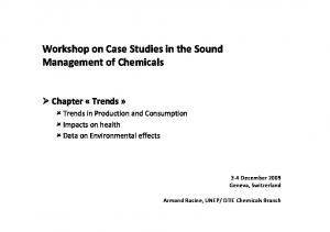 Workshop on Case Studies in the Sound Management of Chemicals