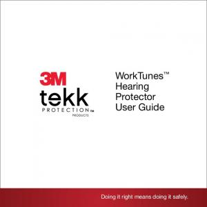 WorkTunes Hearing Protector User Guide. Doing it right means doing it safely