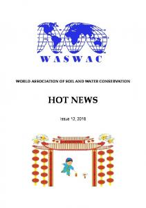 WORLD ASSOCIATION OF SOIL AND WATER CONSERVATION HOT NEWS