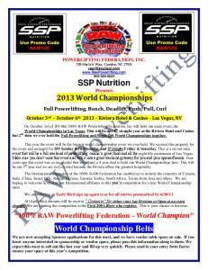 World Championship Belts