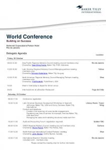 World Conference Building on Success