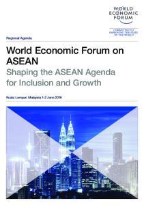 World Economic Forum on ASEAN