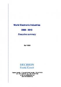 World Electronic Industries Executive summary